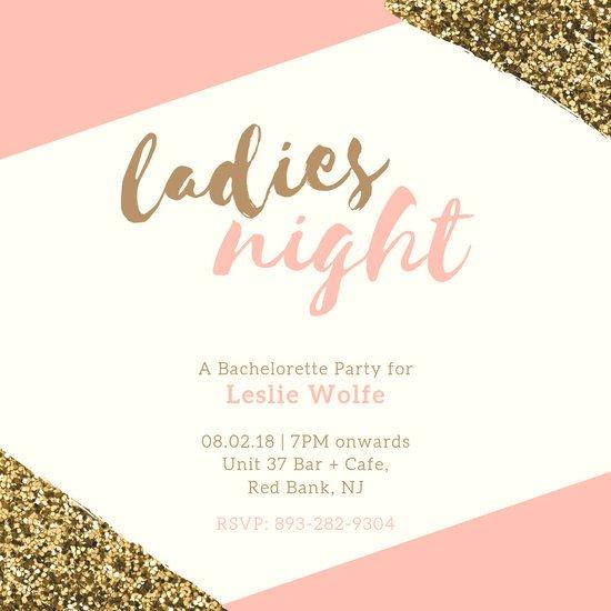 Bachelorette Party Invitation Template Customize 93 Bachelorette Party Invitation Templates