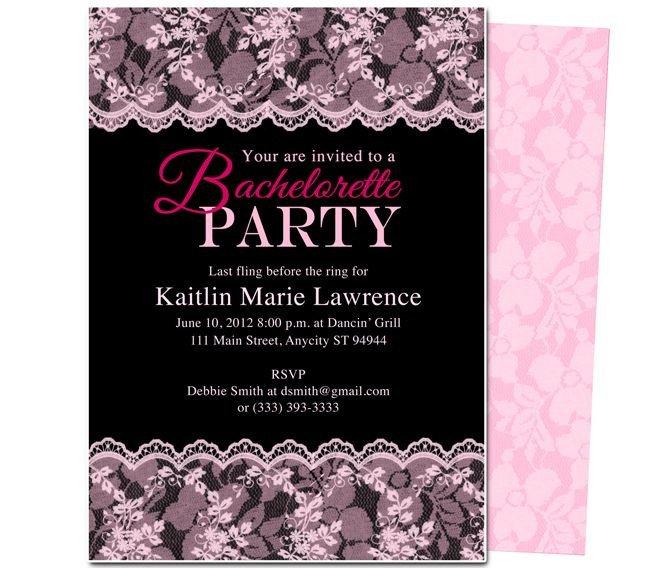 Bachelorette Party Invitation Template Printable Diy Bachelorette Party Invitations Boudoir
