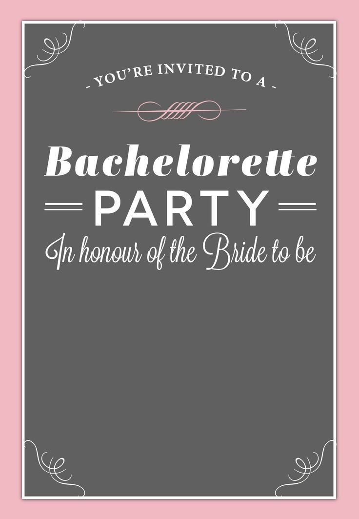 Bachelorette Party Invitation Templates 18 Best Free Bachelorette Party Invites Images On
