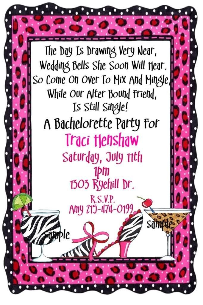 Bachelorette Party Invitation Templates 25 Best Images About Party Invitations On Pinterest