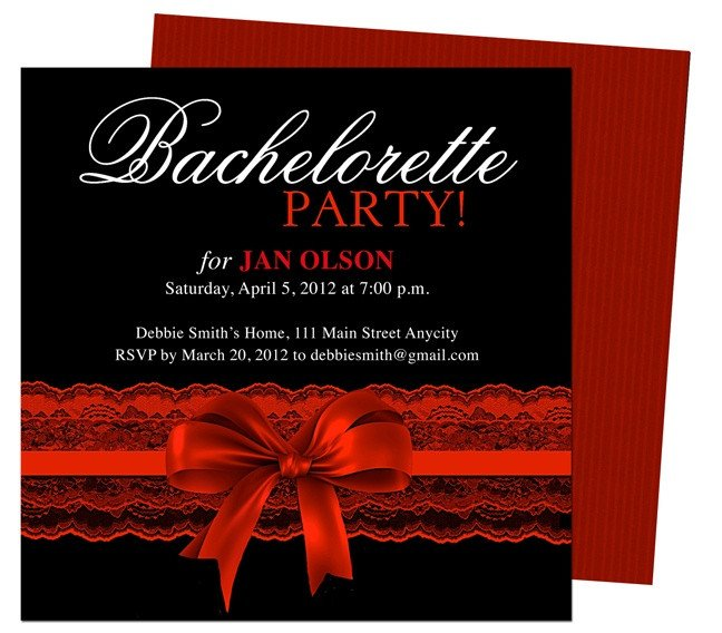 Bachelorette Party Invitation Templates Bachelorette Party Invitations Templates Scarlet Red