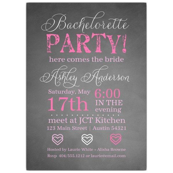 Bachelorette Party Invitation Templates Chalkie Bachelorette Invitations