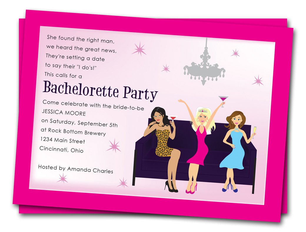 Bachelorette Party Invitation Templates Printable Bachelorette Party Invitations Girls by
