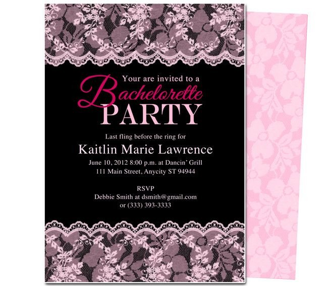 Bachelorette Party Invitation Templates Printable Diy Bachelorette Party Invitations Boudoir