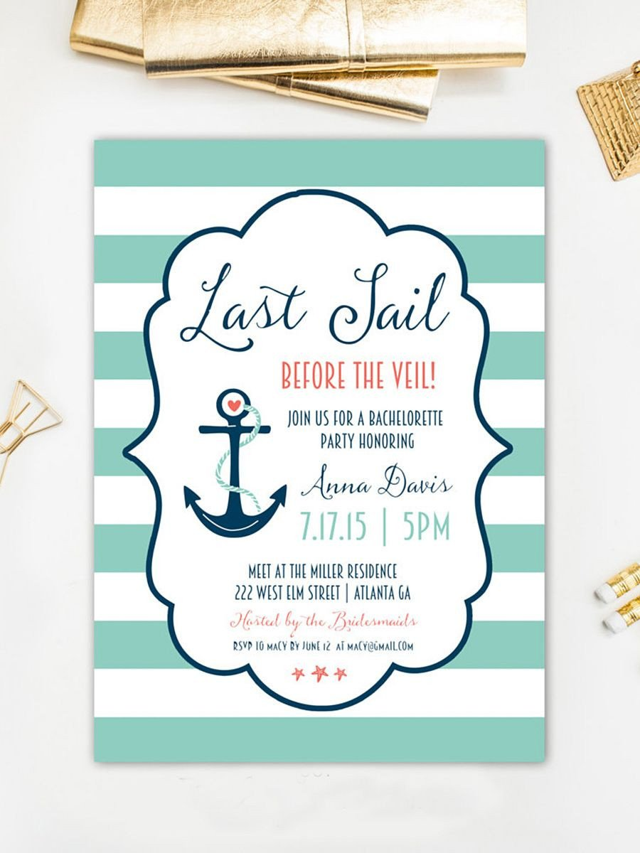 Bachelorette Party Invitations Template Free 14 Printable Bachelorette Party Invitation Templates