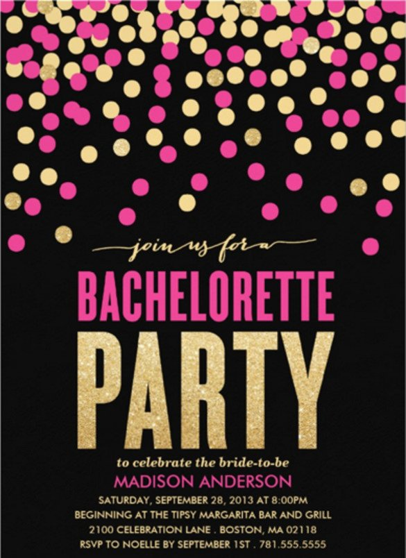 Bachelorette Party Invitations Template Free 32 Bachelorette Invitation Templates Psd Ai Word