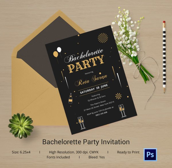Bachelorette Party Invitations Template Free Bachelorette Invitation Template 40 Free Psd Vector