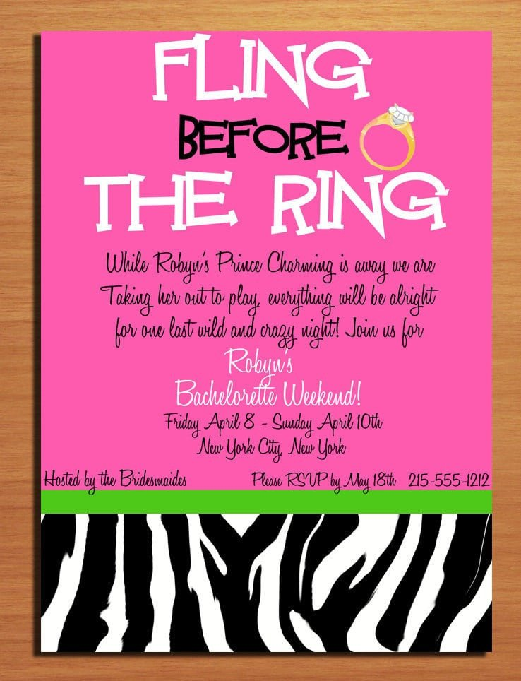 Bachelorette Party Invitations Template Free Bachelorette Party Invitation Template
