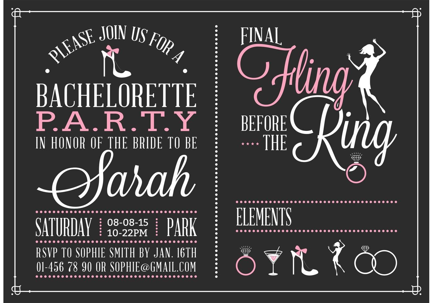 Bachelorette Party Invitations Template Free Bachelorette Party Invitation Vector Download Free