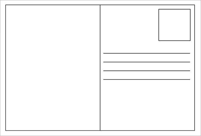 Back Of Postcard Template 34 Blank Postcard Templates Psd Vector Eps Ai