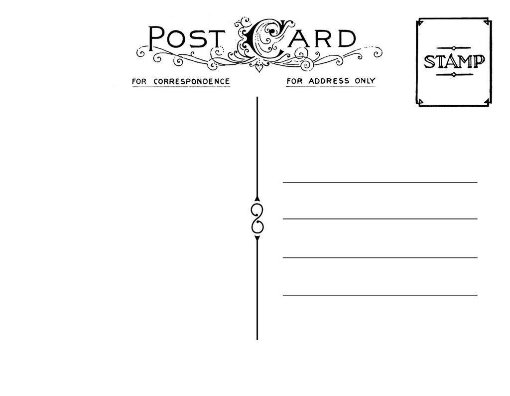 Back Of Postcard Template Diy Postcard Save the Date Back Wedding Stationary