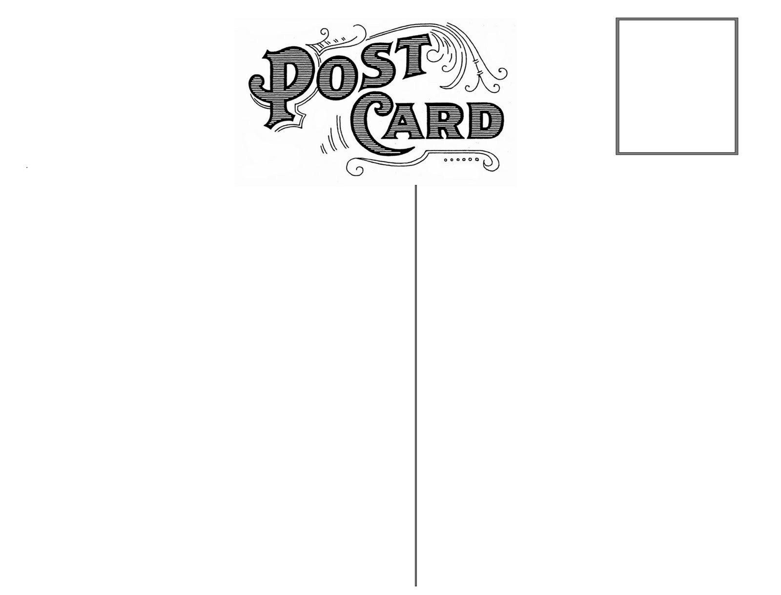Back Of Postcard Template Omg My Diy Wedding Free Vintage Postcard Back & Peony