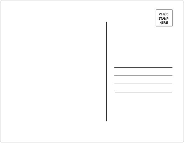 Back Of Postcard Template Project Postcard Template by thecoven On Deviantart