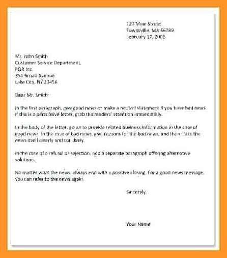 Bad News Letter Template 12 13 Bad News Business Letter Sample