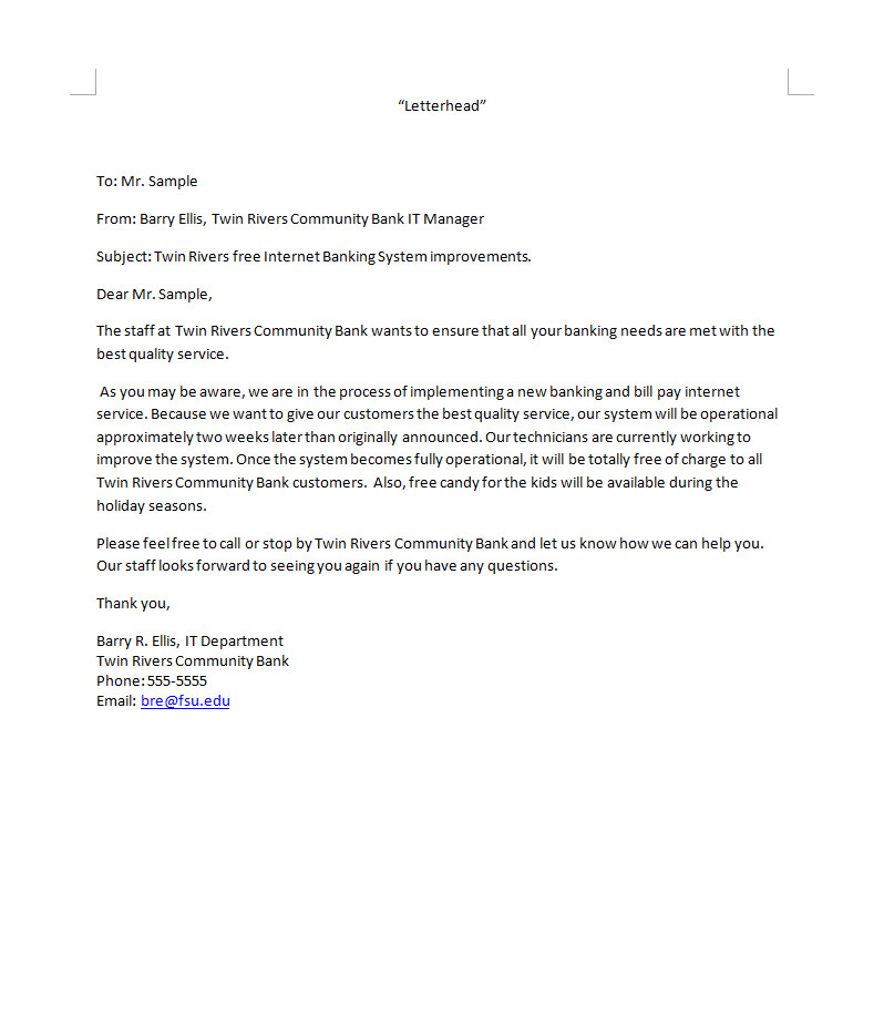 Bad News Letter Template Business Letter Template Bad News