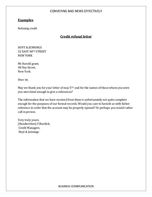 Bad News Letter Template How to Write Bad News Business Letter Submission