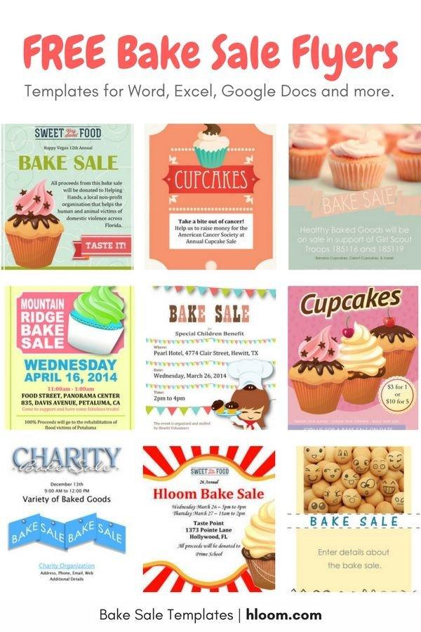 Bake Sale Flyer Template 22 Best Bake Sale Flyers Images On Pinterest