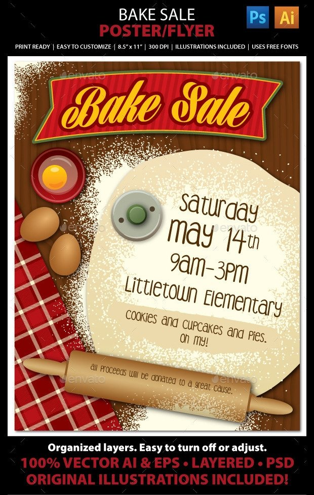 Bake Sale Flyer Template 25 Bake Sale Flyer Templates Ms Word Publisher