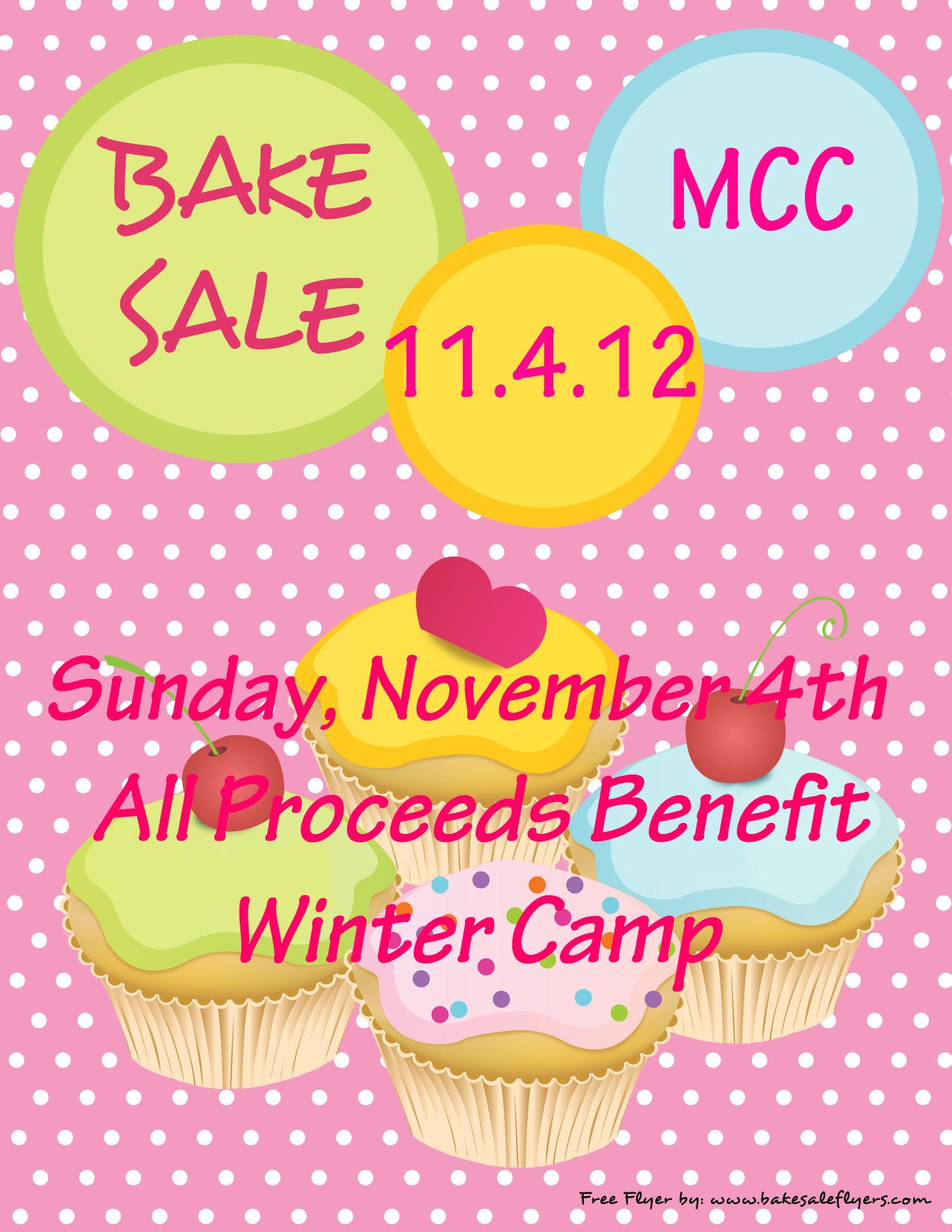 Bake Sale Flyer Template 301 Moved Permanently