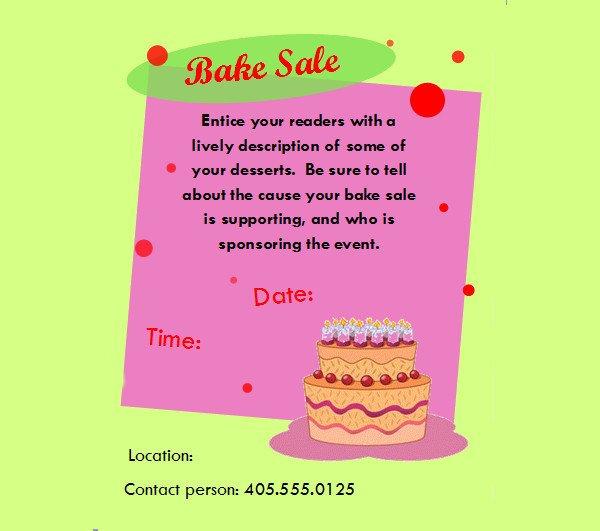 Bake Sale Flyer Template 32 Bake Sale Flyer Templates Ai Psd Publisher