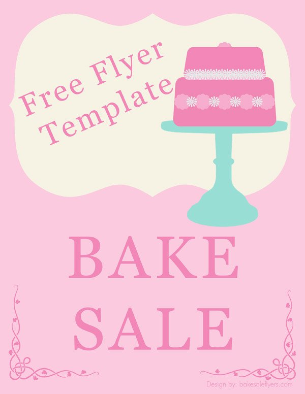Bake Sale Flyer Template Bake Sale Flyers – Free Flyer Designs