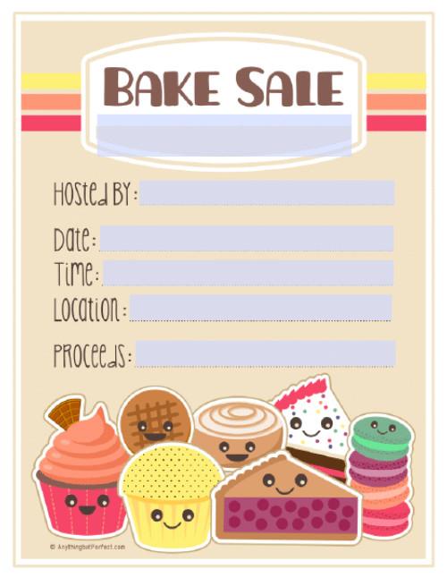 Bake Sale Flyer Template Bake Sale Printable Labels Set