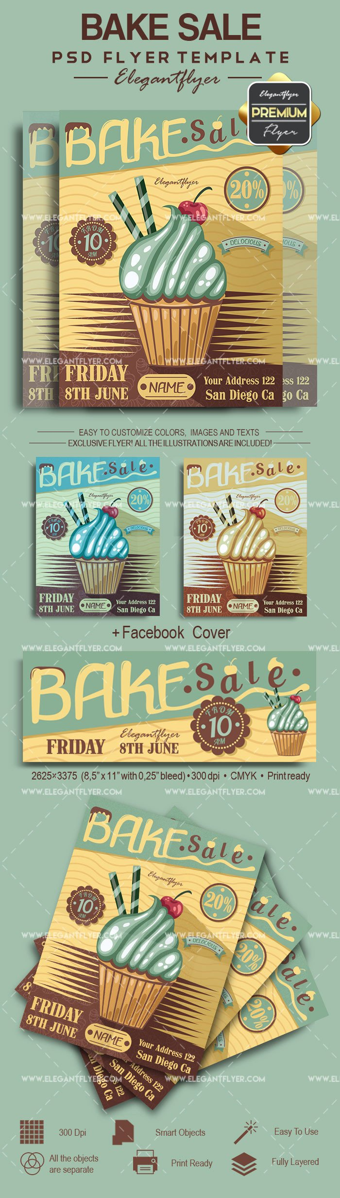 Bake Sale Flyer Template Bake Sale Psd Poster – by Elegantflyer