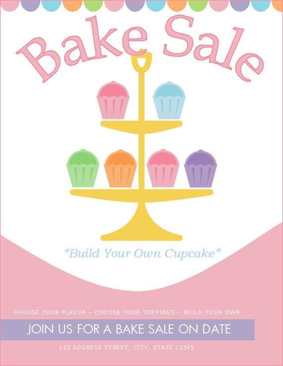 Bake Sale Flyer Template Free Bake Sale Flyer Template