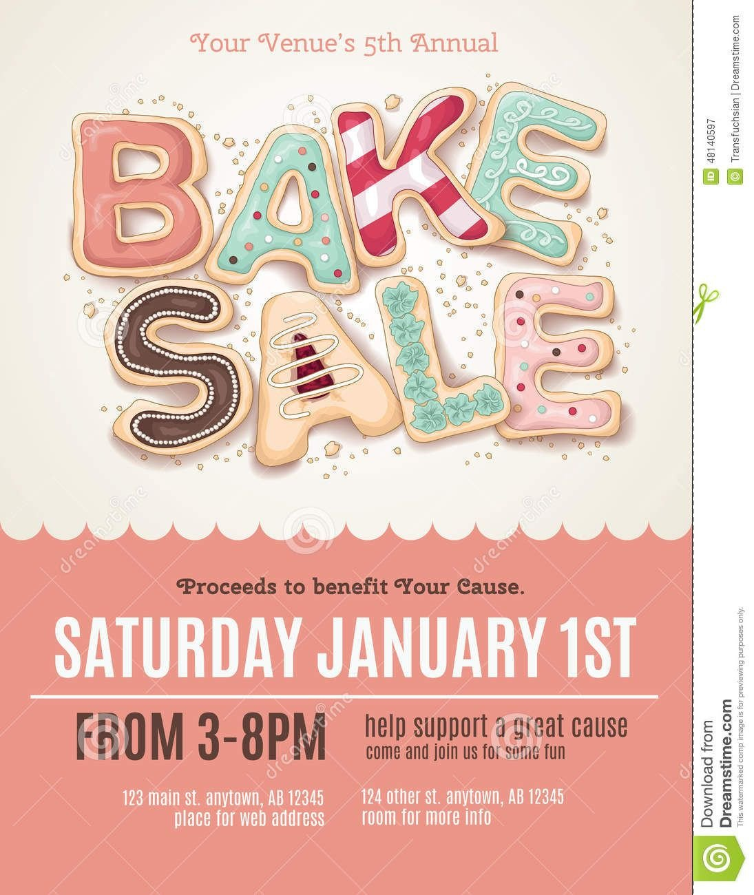 Bake Sale Flyer Template Fun Cookie Bake Sale Flyer Template Download From Over