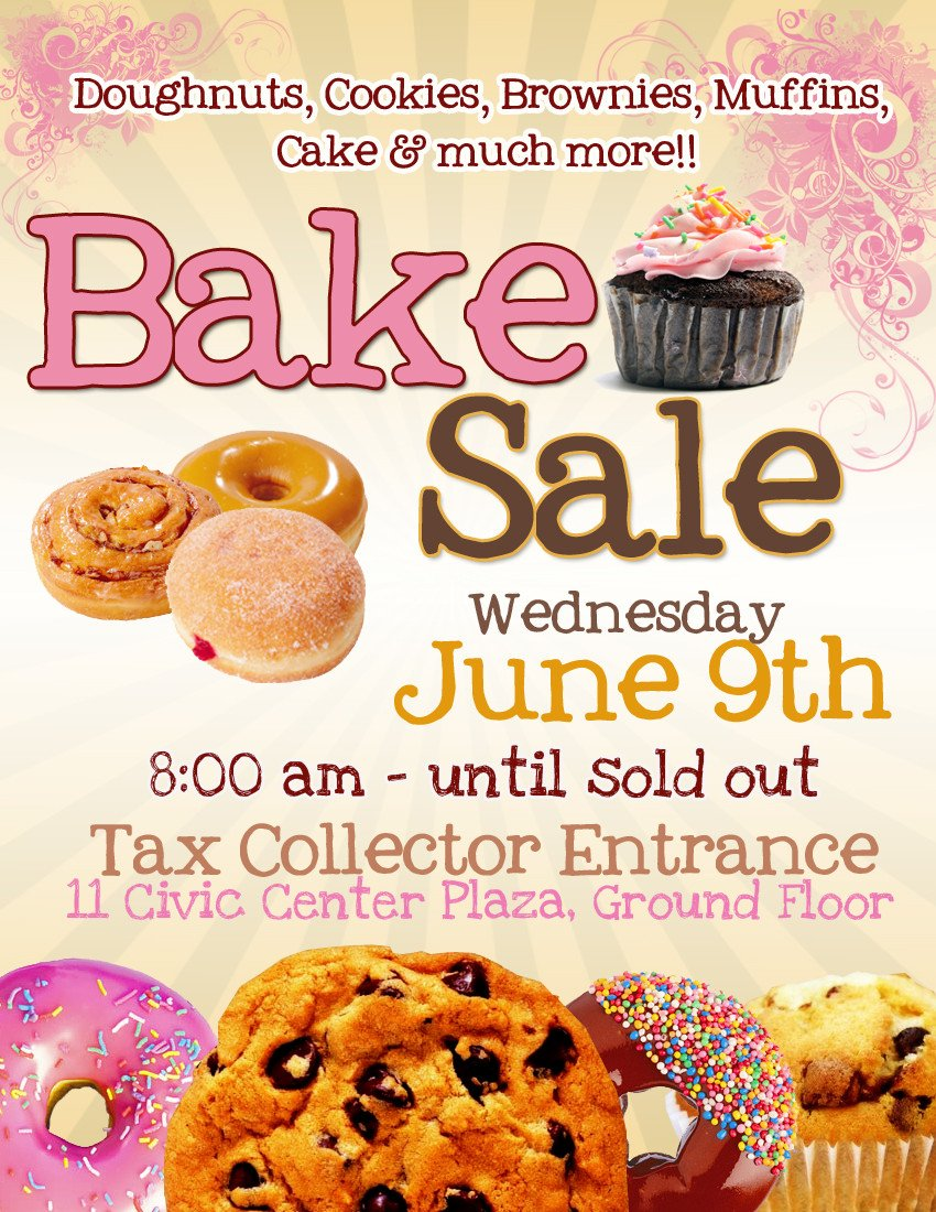 Bake Sale Flyer Template Pretty Witty Designs some Flyers
