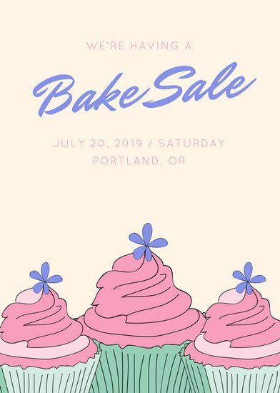 Bake Sale Flyer Template Sale Flyer Templates Canva