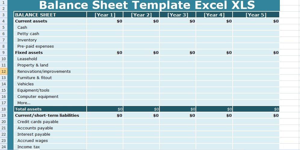 Balance Sheet Template Xls Get Balance Sheet Templates Excel Xls Free Excel