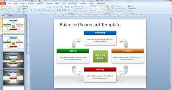 Balanced Scorecard Excel Template Free Balanced Scorecard Powerpoint Template