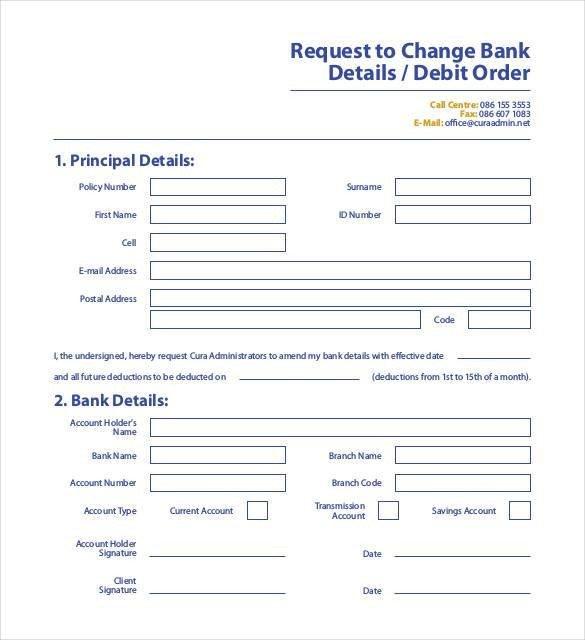 Bank Change order form Template 24 Change order Templates Pdf Doc
