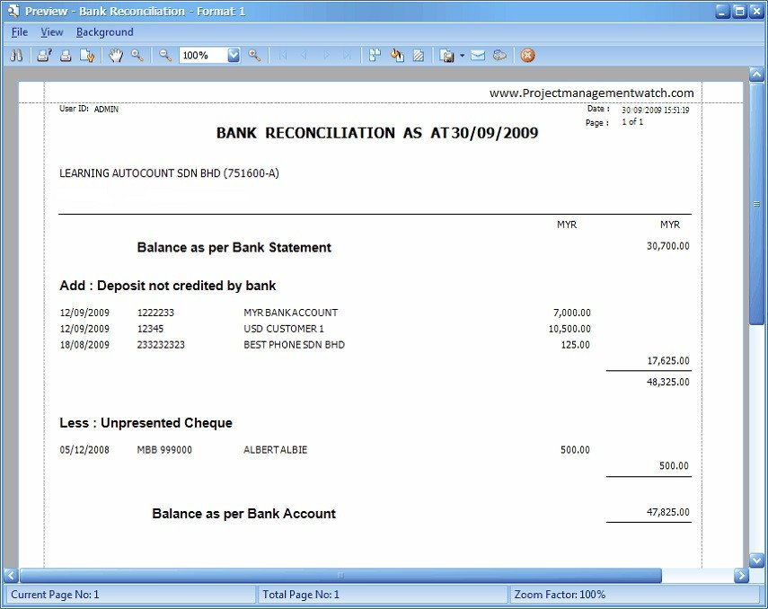 Bank Reconciliation Excel Template Bank Reconciliation Statement Templates In Excel