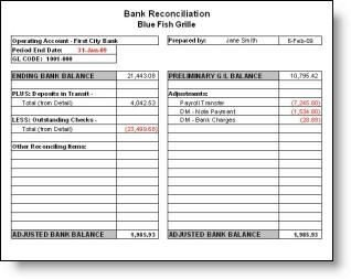 Bank Reconciliation Excel Template Bank Reconciliation Template Bank Recon