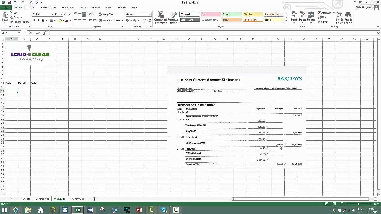 Bank Reconciliation Excel Template How to Do A Bank Reconciliation On Excel