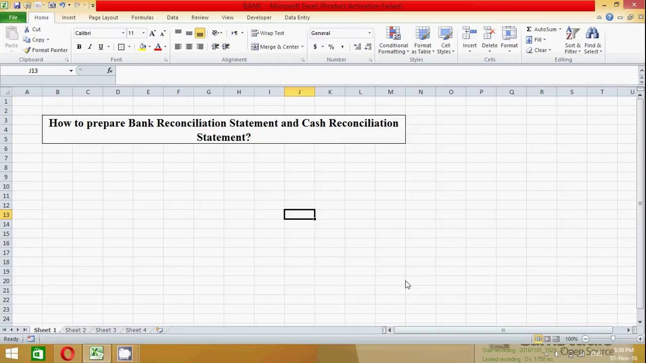 Bank Reconciliation Excel Template How to Prepare Bank Reconciliation Statement In Excel