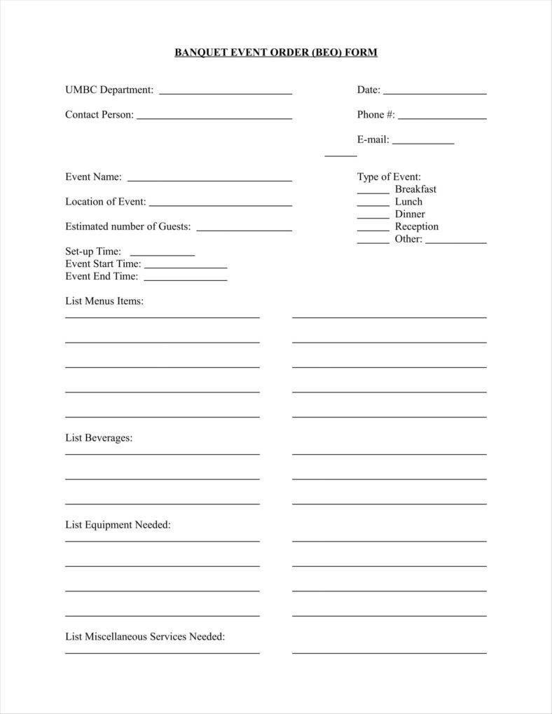 Banquet event order Template 10 event order form Templates Google Docs Google