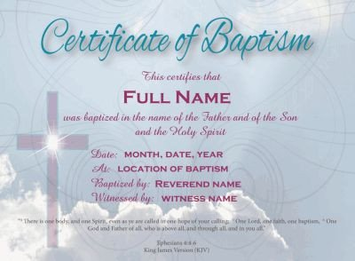 Baptism Certificate Template Word 20 Best Baptism Images On Pinterest