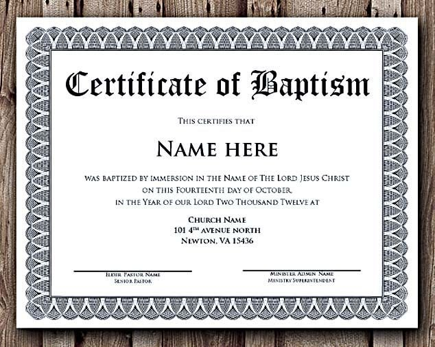 Baptism Certificate Template Word Baptism Certificate Word Editable Template Selecting