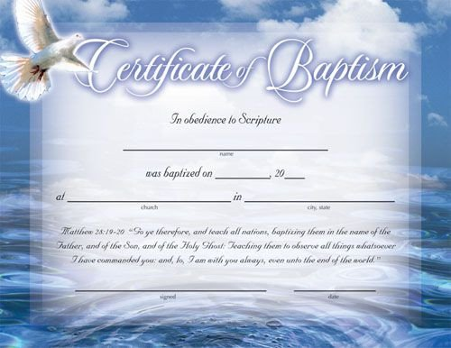 Baptism Certificate Template Word Baptism Certificates Free