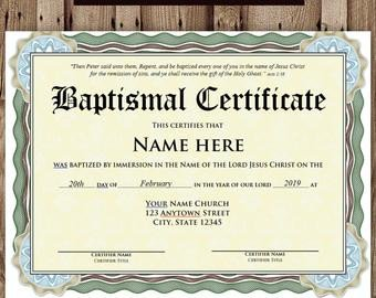 Baptism Certificate Template Word Editable Baptism Certificate Template Pdf Adobe Reader