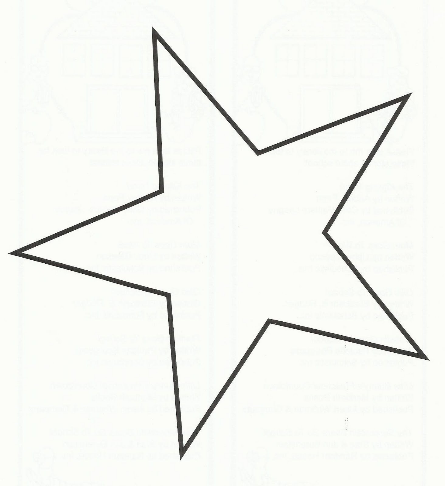 Barn Star Template 5 Point Star Template Printable Crafts