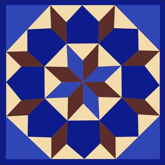 Barn Star Template Items Similar to Barn Quilt Star Of Bethlehem Pattern 2