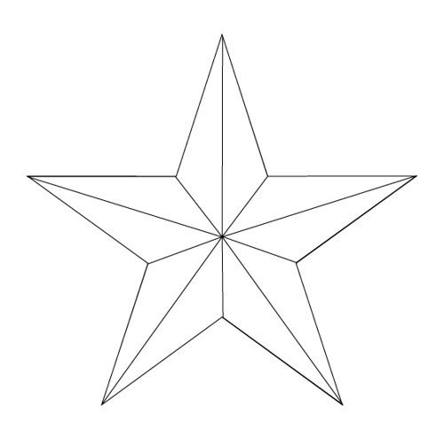 Barn Star Template Nautical Star Tattoo 1 Outline
