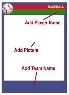 Baseball Card Template Free Baseball Card Templates Free Blank Printable Customize