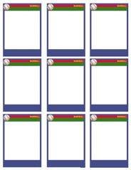 Baseball Card Template Free Baseball Cards Card Templates and Baseball On Pinterest