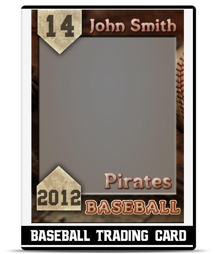 Baseball Card Template Free Baseball – Trading Card Template