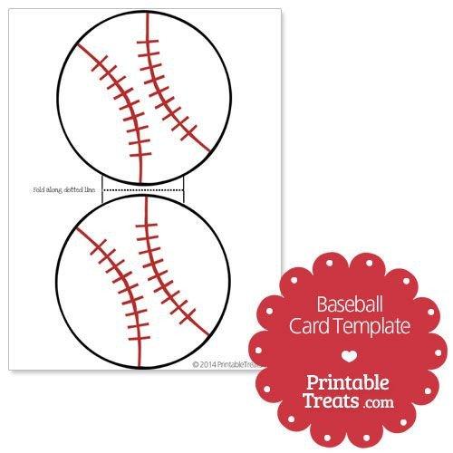 Baseball Card Template Free Printable Baseball Card Template From Printabletreats